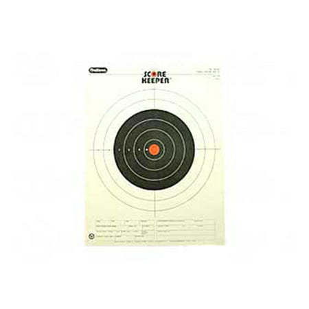 Champion Traps and Targets Orange Bullseye Scorekeeper Target, 100 Yard Small-Bore Rifle,