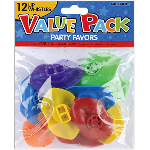 Party Favors, 12-Pack, Lip Whistles