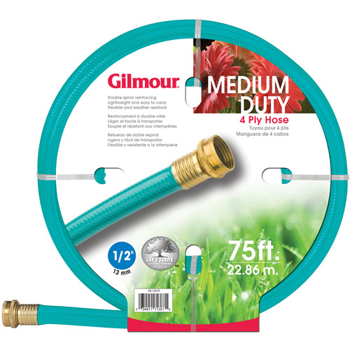 Gilmour 15-12075 1/2 in X 75' 4 Ply Medium Duty Garden Hose