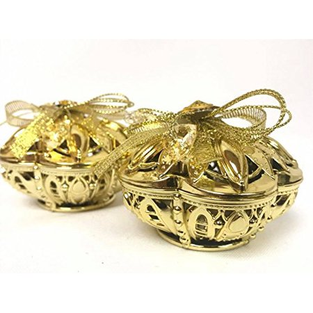 Gift Box Plastic Party Gold Color Boxes 2 Small Empty Containers For Boxed Wedding Favors Birthday Presents Candy Jewelry Souvenirs All Occasions
