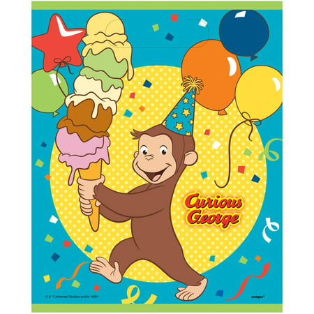 Plastic Curious George Favor Bags, 8ct](Curious George Party Bags)