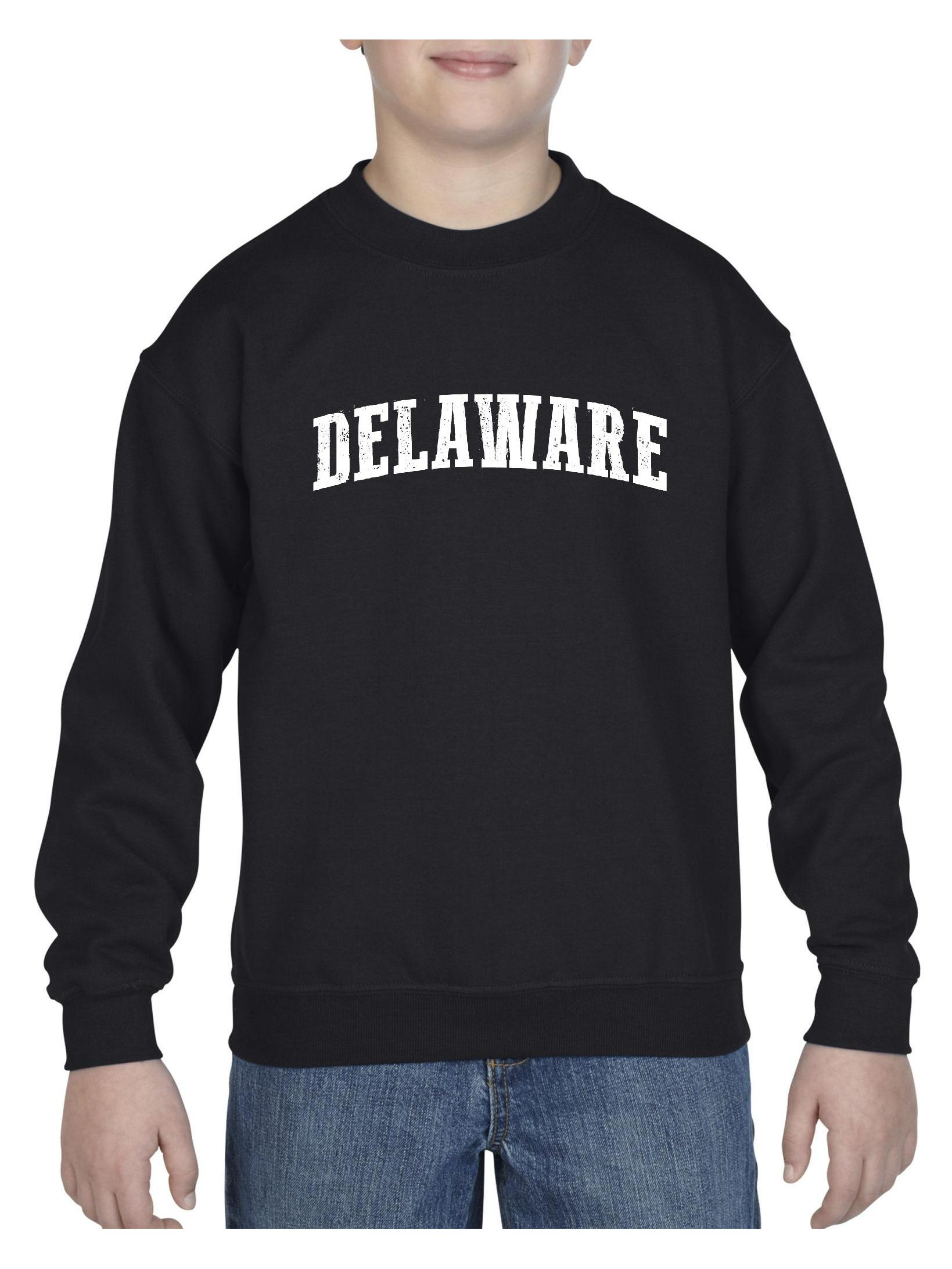 Delaware State Flag Unisex Youth Crewneck Sweatshirt