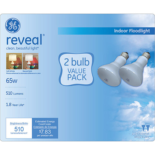 GE reveal?? 65 watt BR30 floodlight 2-pack