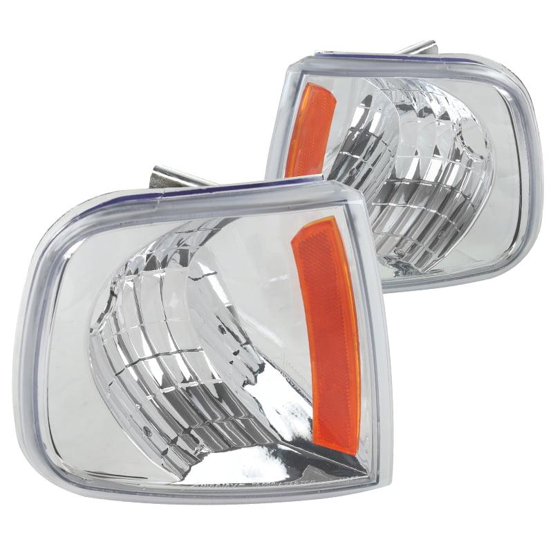 Spec-D Tuning 1997-2003 Ford F150 Expedition Black Corner Signal Lights Set 97 98 99 00 01 02 03 (Left + Right)