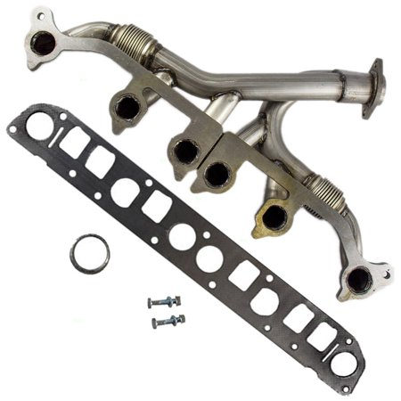 BROCK Exhaust Manifold with Gaskets and Hardware Replacement for Jeep Comanche Pickup Truck Grand Cherokee Wrangler SUV 4883385 52005431