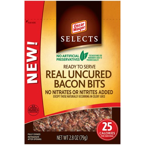 Oscar Mayer Selects Real Uncured Bacon Bits, 2.8 oz