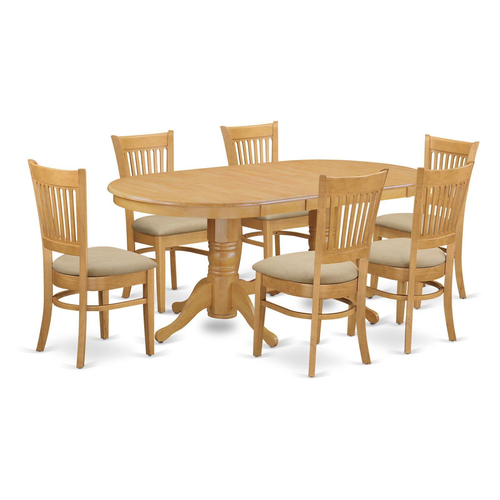 East West Furniture Vancouver 7 Piece Hepplewhite Modern Dining Table Set