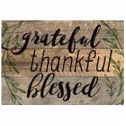 Mini Sign-Grateful Thankful Blessed (6.5 x 4.5)