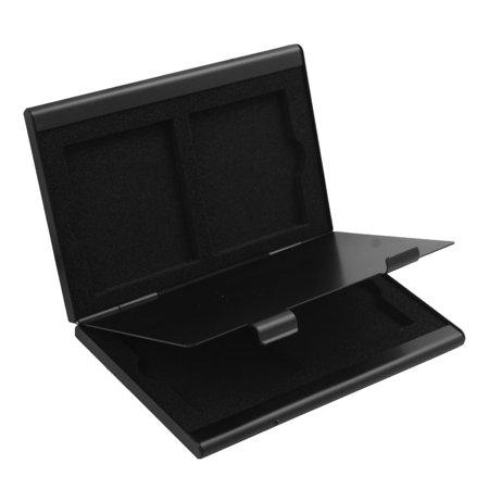 Aluminum Alloy 4 CF Slots Compact Flash Memory Card Protecter Storage Case Black