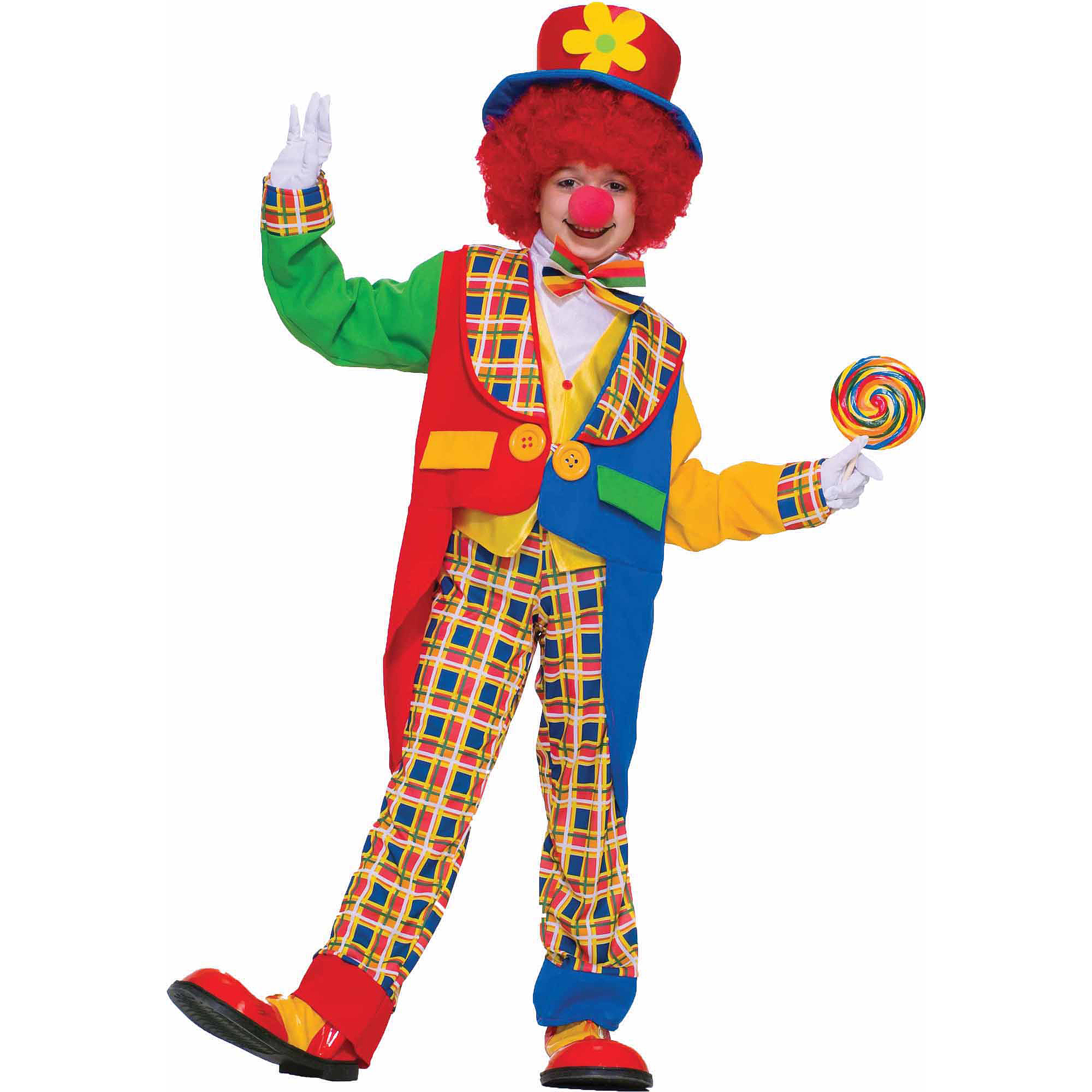 Clown On The Town Child Halloween Costume  sc 1 st  Walmart & Scary Clown Costumes
