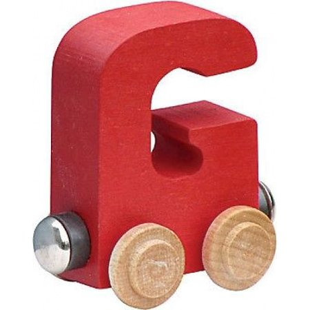 Name Train - Bright Color Childrens Wooden Trains Letter G (Name Trains Bright Finish)