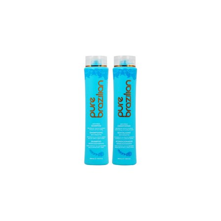 Pure Brazilian Anti-Frizz Shampoo and Conditioner 13.5oz Duo (The Best Brazilian Hair)
