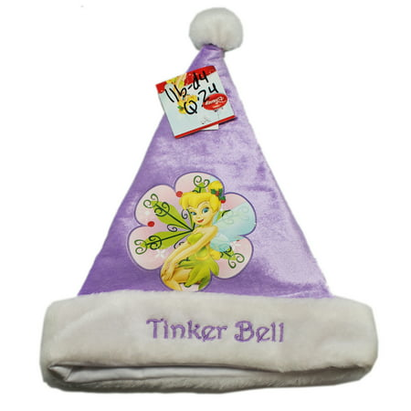 Purple Disney Tinkerbell Santa Claus Hat for Kids ()