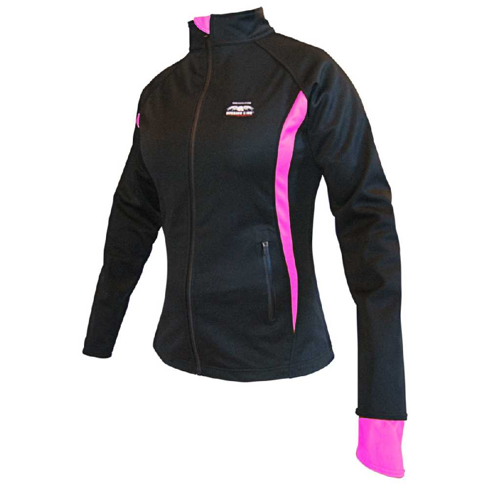 Missing Link Women's Viper Motorcycle Jacket Black/Pink Nylon VJWP