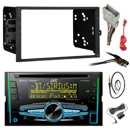 JVC KWR930BTS Double DIN Bluetooth Car Stereo Receiver CD Player Bundle Combo With Metra installation kit for car stereo (Fits Most GM Vehicles) + Wire Harness + Enrock 22