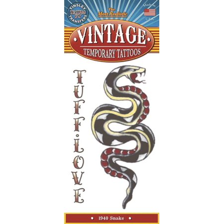Tinsley Transfers Snake 1940 Vintage Temporary Tattoo FX