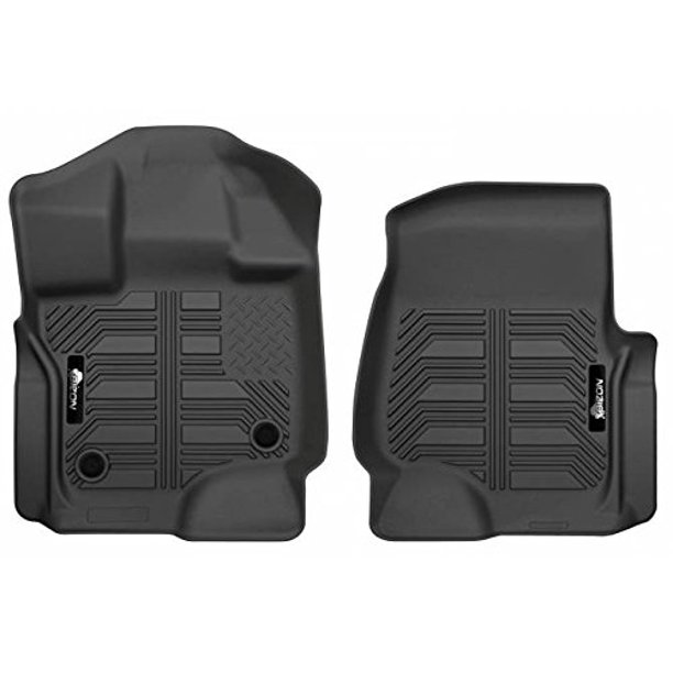 Bizon Laser Measured Floor Liners Fits 2015 2018 Chevy Colorado Gmc Canyon Front Row 2 Piece Black Molded Floor Mats Made In The Usa Walmart Com Walmart Com