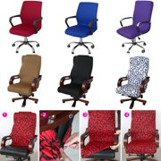 Office Computer Chair Cover Seat Arm Chair Protector Cover Chaise Stretch Rotating Lift Chair Cover Seat Decoration Side Zipper Design S/M/L