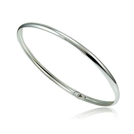 Sterling Silver Polished Flex Bangle Bracelet