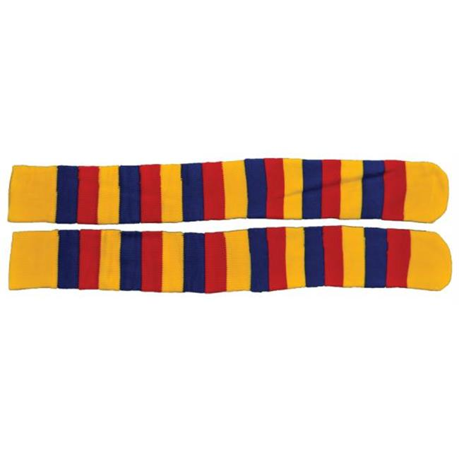 MorrisCostumes BB401YB Socks Clown, Yellow, Red and Blue