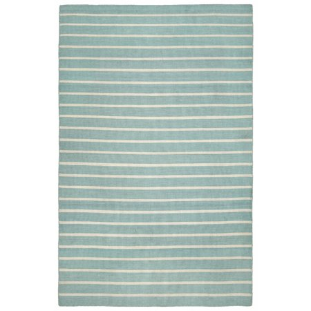 Sorrento 6305 93 Pinstripe Water   24 X8 Area Rug By Trans Ocean