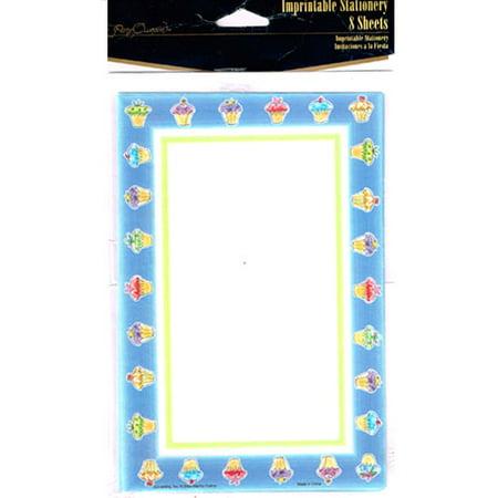 Cupcake Party Printable Sheet Invitations w/ Envelopes (Cupcake Invitation)