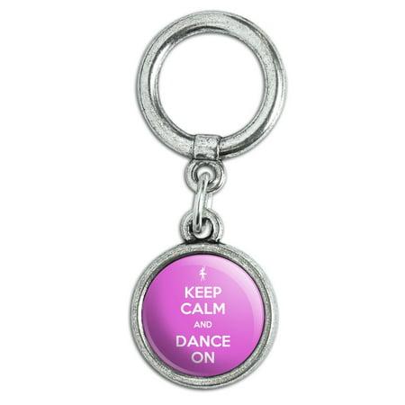 Keep Calm And Dance On Ballet Dancer Shoe Shoelace Charm (Ballet Shoe Charm)