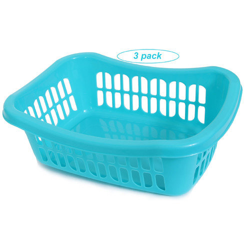 YBM Home Plastic Storage Basket (Set of 3)