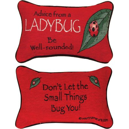 Manual Woodworkers & Weavers Advice from a Lady Bug Word Lumbar Pillow