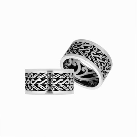 AR-9068-S-7'' Sterling Silver Pretty Designer Ring With Plain Silver - Cheap Pretty Rings
