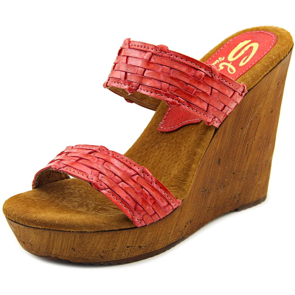 Sbicca Mariana Women Open Toe Synthetic Wedge Sandal by Sbicca
