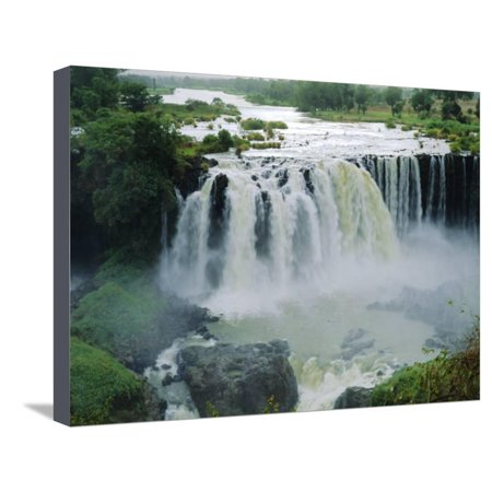 Waterfall, Blue Nile Near Lake Tana, Gondar, Ethiopia, Africa Stretched Canvas Print Wall Art By J P De