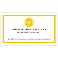 Striped Note - Personalized 3.5 x 2 Business Card