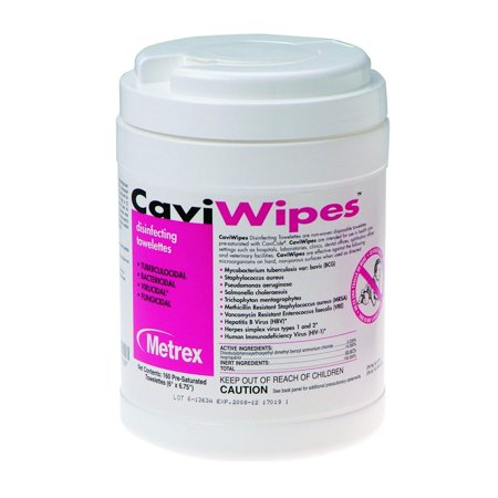 160 Wipes (CaviWipes Surface Disinfectant Wipe 13-1100 Pack of 160, Alcohol Scent )