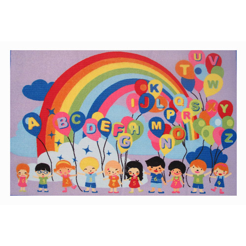 Fun Rugs Educational Balloons Kids' Rug, Multi-Color