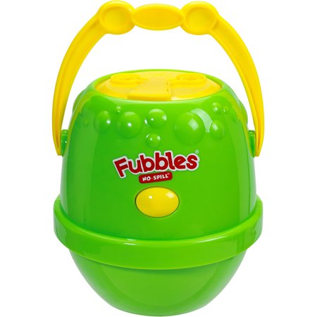Little Kids Fubbles No Spill Bubble Machine, Green and Yellow (No Spill Bubble Machine)