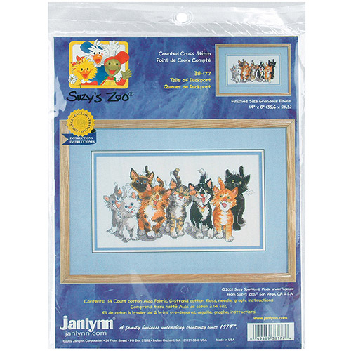 "Janlynn Suzy's Zoo Tails Of Duckport Counted Cross Stitch Kit, 14"" x 8"", 14 Count"