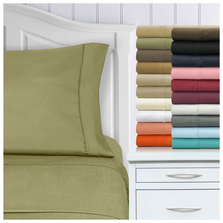 1500 Thread Count Ultra-Soft Microfiber Deep Pocket Bedding Sheets & Pillowcases, 4-Piece Sheet Set by Impressions - California King Fitted Sheet California King Bedding