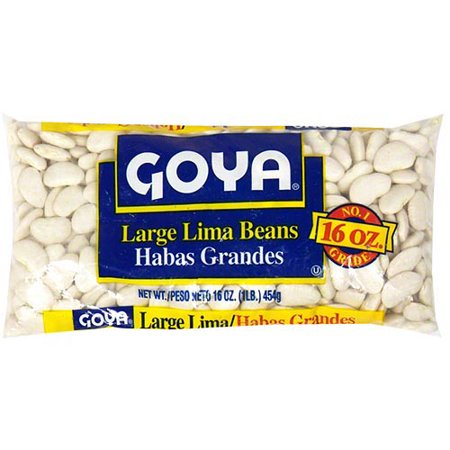 Goya Large Lima Beans, 16 oz (Pack of 24) (Small Beans Halloween)