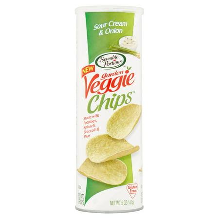 Sensible Portions Garden Veggie Chips Sour Cream & Onion Potato Chips, 5 oz, 12 pack Sour Cream Onion Potato