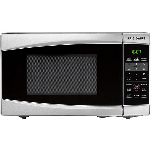 Frigidaire 0.7 Cu Ft 700W Countertop Microwave Oven, Stainless Steel by Frigidaire