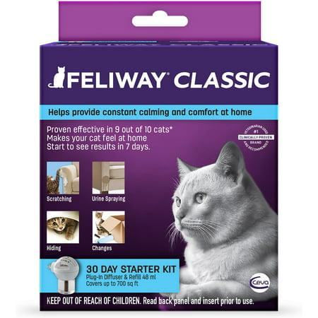 Comfort Zone Diffuser Refills (Feliway Classic 30 Day Starter Kit Plug-In Diffuser & Refill, 48)