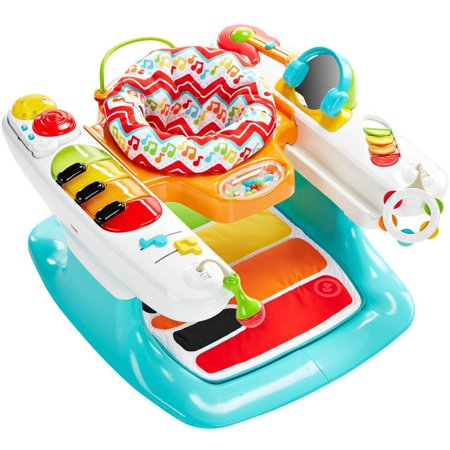Fisher-Price Light and Sounds Step n Play Piano 4-in-1 Baby Entertainer, Playmat, Stationary Walker, and Toddler Activity Table