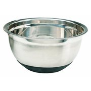 Crestware MBR04 4 Quart Stainless Steel Mixing Bowl with Rubber Base