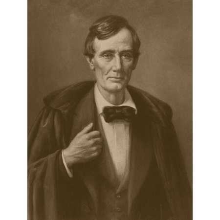 Vintage Civil War era print of President Abraham Lincoln wearing an overcoat Poster Print - Abraham Lincoln Coat