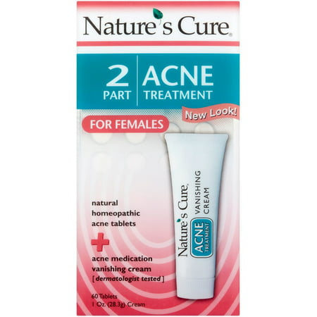 Natures Cure 2 Part Acne Treatment For Females 60 Tablets 1 Oz Cream