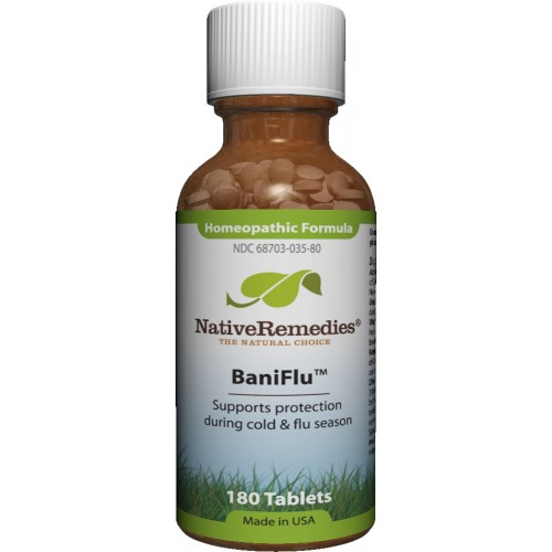 Native Remedies BNF001 BaniFlu to Temporarily Protect Against Flu Virus - 125 Tablets