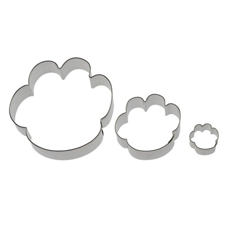 Print Cookie Cutter - You Left Paw Prints on My Heart - Cookie Cutter 3 Pc Set - Sizes: 4.5 in, 2.5 in, 1.25 in. - Foose USA Made