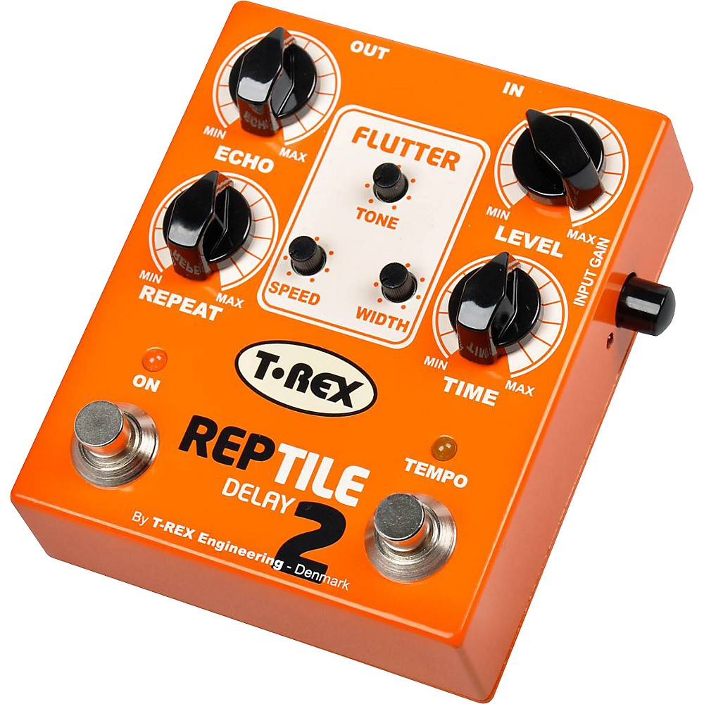 T-Rex Engineering Reptile 2 Digital Delay Guitar Effects Pedal Orange by T-Rex Engineering