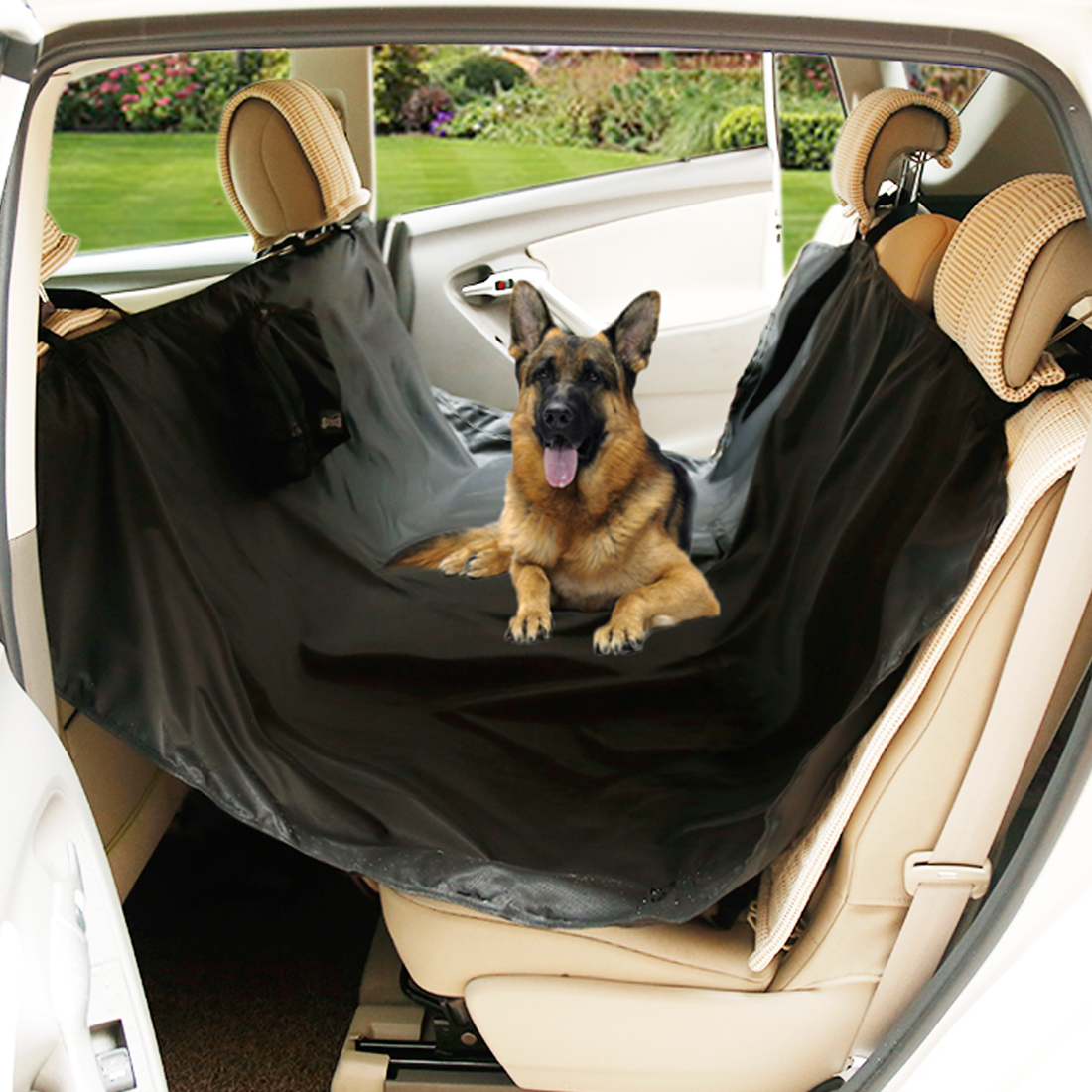 Portable Dog Car Seat Cover Travel Pet Hammock Seat Protector Cover Mat Black DOGLEMI Authorized